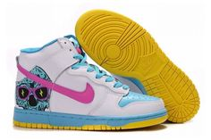 buy popular 1e471 c5460 Nike Dunk SB Mid Hvid Lilla Mørkgrøn Herre High Shoes, Top Shoes, White  Light