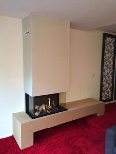 Also note ventilation slots in the… Chimney Breast, Gas Stove, Stoves, Floating Nightstand, Hearth, Shelf, Note, Table, Furniture