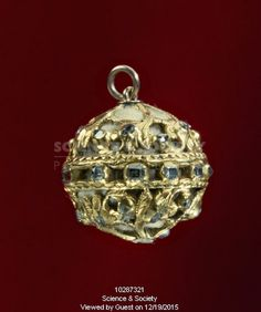 Gold pomander, 16th century.