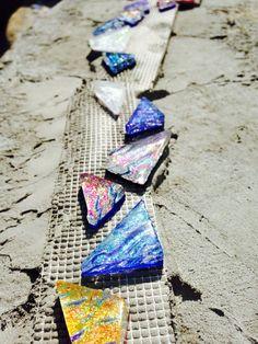 Lightstreams Shell Tile Pool Installation, Shells, Tile, Conch Shells, Mosaics, Conchas De Mar, Tiles, Sea Shells, Seashells