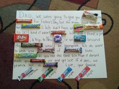 Made this for Daniel :-)....his love for candy and the kids made this the perfect gift from them!
