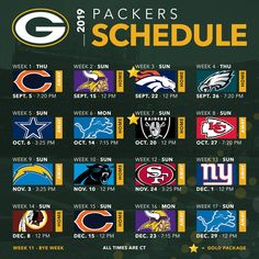 Packers announce 2019 schedule Packers Baby, Go Packers, Packers Football, Packers Season, Vikings Football, Greenbay Packers, Minnesota Vikings, Green Bay Football, Green Bay Packers Fans