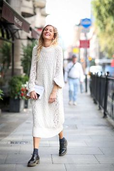 ELLE's LFW S/S 2015 Street Style | Fashion, Trends, Beauty Tips & Celebrity Style Magazine | ELLE UK // Winter white Chic