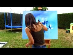 Abstract acrylic painting - Démonstration peinture abstraite (2) - Althea - YouTube