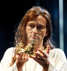 David Tennant in the <br /> Royal Shakespeare Company's<br /> Richard II<br /> By William Shakespeare<br /> 7 - 22 January 2016 <br /> at the Barbican Theatre, London, Great Britain <br /> <br /> David Tennant reprises the title role for a strictly limited season only at the Barbican.<br /> <br /> Photograph by Elliott Franks