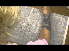▶ Altering Tim Holtz Folio - Part 1 Covering with the Tim Holtz Dictionary Fabric - YouTube