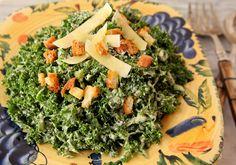 Kale Caesar Salad with Greek Yogurt Dressing