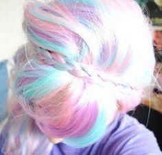 beautiful, hair, hair color, its like cotton candy Ombré Hair, Hair Dos, Her Hair, Blonde Hair, Purple Hair, Bleach Blonde, Hair Band, Turquoise Hair, Violet Hair