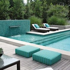 Pool fountain on pinterest pools above ground pool and backyards - Outdoor decoratie zwembad ...