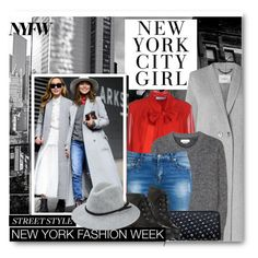 """Day One: The Best NYFW Street Style"" by beebeely-look ❤ liked on Polyvore featuring L.K.Bennett, Blumarine, Étoile Isabel Marant, women's clothing, women, female, woman, misses, juniors and StreetStyle"
