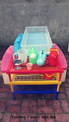 Teaching 2 and 3 Year Olds: Plant Watering Station