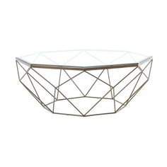 Black Rooster Decor - Mod Coffee Table - Geometric Living Room Accent Decor