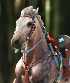 Babyflo's Finished Bridle and Breastplate, by Rachel Fail
