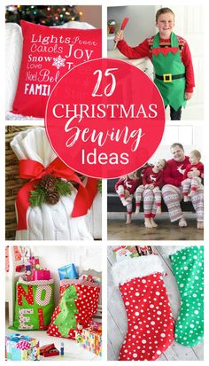 25 Christmas Sewing Projects to Make This Holiday Season (All free patterns with lots to choose from)