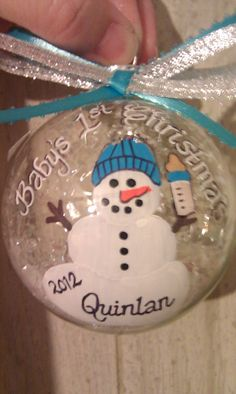 Babys First Christmas Ornament on Etsy, $12.00