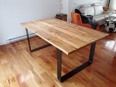 Comptoir bar en bois de grange conception et fabrication for Meuble avec bois de grange