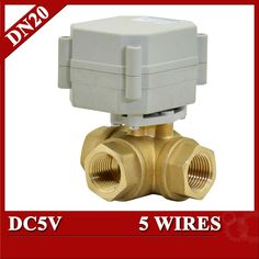 38.89$  Buy now - http://ali8js.shopchina.info/go.php?t=32789923203 - 3/4'' electric ball valve 5 wires, 3 way horizontal type electric motor valve DC5V  for water pool  #aliexpressideas