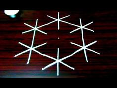 simple kolam designs with 7x4 dots || creative and beautiful rangoli designs || melikala muggulu - YouTube