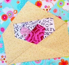 Valentine's Day Letter quilt block pattern PDF instant