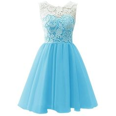 Jay&Joy Lace Chiffon Zipper with Buttons Short Prom Homecoming Party... ($81) ❤ liked on Polyvore featuring dresses, short cocktail dresses, short lace dress, lace prom dresses, lace homecoming dresses and short prom dresses