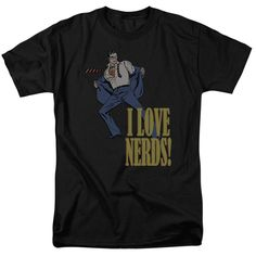 DC/I Love Nerds Short Sleeve Adult T-Shirt 18/1 in