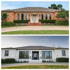 Home renovation not only helps in enhancing the overall appearance of the living place but also adds strength to the property. Astounding Home Renovation Ideas Interior and Exterior Ideas. Ranch Exterior, Exterior Remodel, Modern Exterior, Interior Exterior, Home Interior, Exterior Design, Interior Livingroom, Interior Modern, Interior Ideas
