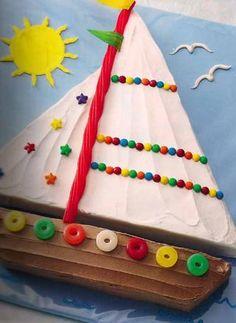 boat cake. easy-ish day