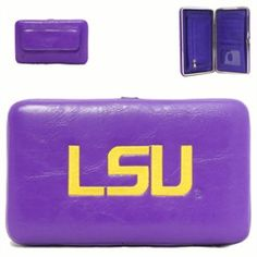 Louisiana State University Tigers PVC Flat Wallet with 5 credit card slots Yima. $49.99
