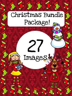 3 Christmas Clip Art Bundles in one!