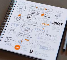 Die diesjährige Re:publica war erneut eine tolle Möglichkeit nicht nur spannende Vorträge zu sehen, sondern diese auch visuell festzuhalten – in Form von Sketchnotes, die sich erfreulicherweise immer größerer Beliebtheit erweisen, besonders auf der diesjährigen Republica. Sketchnotes Nadine Roßa