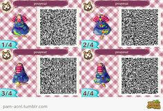 Painted dress overalls ACNL QR codes. Great for getting work done around, or just being cute