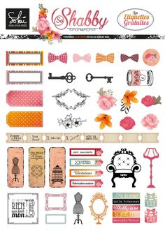 Free Printable So Shabby Planner Stickers To Do Planner, Planner Layout, Free Planner, Happy Planner, Planner Ideas, Scrapbooking, Scrapbook Paper, Freebies, Printable Planner Stickers