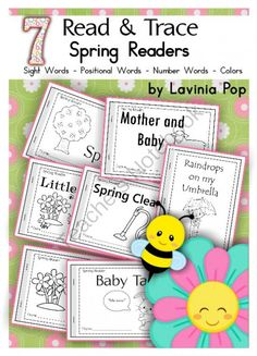 Spring Sight Words Read & Trace Readers from LaviniaPop on TeachersNotebook.com -  (61 pages)  - Spring Sight Words Read & Trace Readers. This unit contains seven Spring-themed emergent readers.