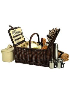 Picnic At Ascot Buckingham Basket For Four