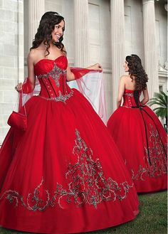 Chic Taffeta & Tulle Sweetheart Neckline Floor-length Ball Gown Quinceanera Dress With Shawl