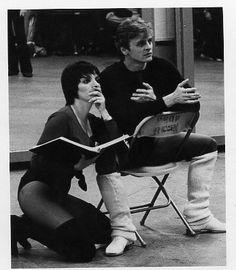 'Baryshnikov on Broadway', 1980. Rehearsal. Mikhail Baryshnikov and Liza Minnelli