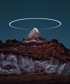Photographer Reuben Wu continues his 'Lux Noctis' series, where he attaches LED lights to drone and creates surreal landscape photographs. Now, he's painting light halos over rock pinnacles using long exposure photography to stunning effect. Landscape Lighting, Landscape Photos, Landscape Photography, Nature Photography, Urban Landscape, Artistic Photography, Abstract Landscape, Noctis, Exposure Photography