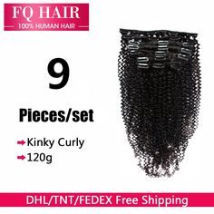 (34.98$)  Know more - http://aievw.worlditems.win/all/product.php?id=32549913873 - DHL Free 7A Mongolian Human Afro Kinky Curly Clip In Hair Extensions For Black Woman 120g Curly Clip In Human Hair Extensions