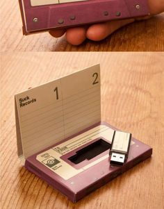 Jump Drive disguised as a cassette mix tape. Great design idea for an 80s theme.