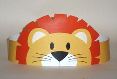Lion Paper Crown  Printable van PutACrownOnIt op Etsy, $2,00