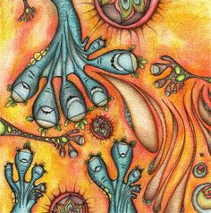 Aliens with blue toes  Limited Edition 12x12 Fine by JessicaDoyle, $100.00