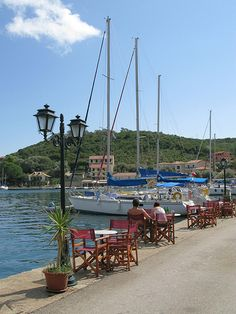 Lefkada, Sivota. A natural anchorage for the lovers of sailing