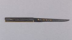 """""""Kozuka with Blade""""  Japan.  Edo Period (17th century).  Iron, copper-gold alloy, gold, and silver."""