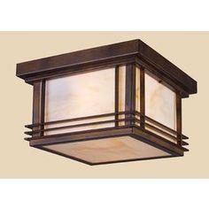 Westmore Lighting 11-in W Hazelnut Bronze Outdoor Flush-Mount Light $182.69 - lowes.com