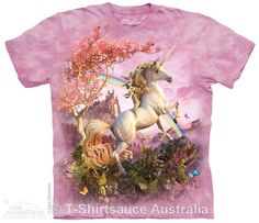 Awesome Unicorn Adults T-Shirt : Fantasy Collections : Light Fantasy T-Shirts : T-Shirtsauce Australia Shop The Mountain T-Shirts