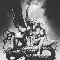 Tattoo ideas #angel #demon #fallenangel #picture #demon #religion #religioustattoo #fantasyart #tattooart #tattooideas #tattoodesigns