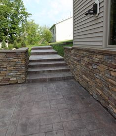Let's take a look at a few of the stamped concrete myths and debunk them: Concrete Patios, Stamped Concrete, Earth Tones, Brick, Construction, Building, Bricks