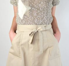 Khaki Wrap Around Skirt