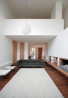 guillaume terver et christophe delcourt associés / projet villa arceuil avec portes toute hauteur en contreplaqué d'okoumé