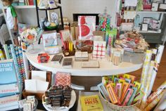 display at Sweet Paper stationery store